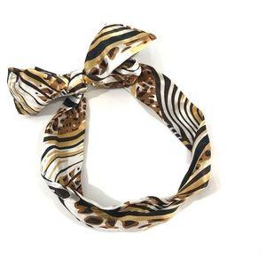 2/$20🎁 Satin Tiger Animal Print Sash Hair Tie